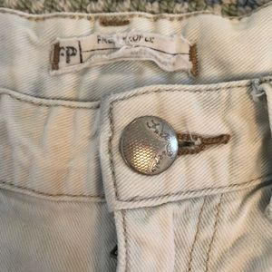 Free People Shorts - FREE PEOPLE light wash shorts with rips